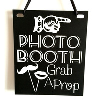 Photo Booth Banners Wooden Engagement Board Wedding Wooden Blackboard Props