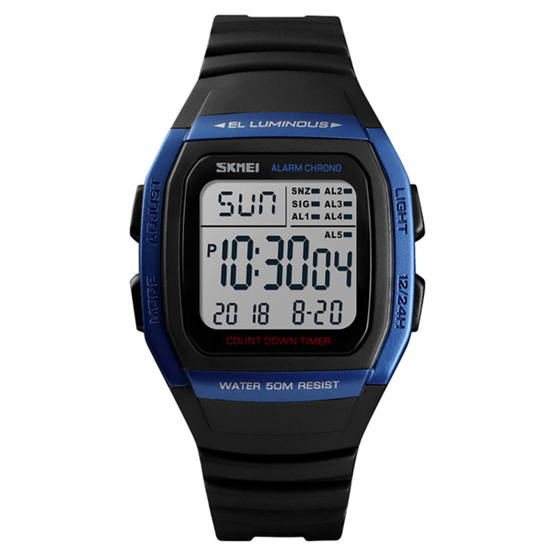 SKMEi Men's Digital Watch Waterproof Date Luminous Countdown Sports Watch 1278