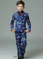 Elegant Two Buttons Wedding Suits For Boy Notch Lapel Suits Children Party Tuxedos boys Smoking blazer (jacket+pant+vest)