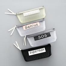 Transparent Mesh Pencil Case Simple Student font b Kids b font Pencil font b Bag b