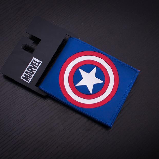 DC Marvel Comics Men PVC Wallet Captain America Anime Cartoon Purse Card Money B