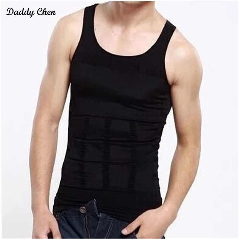 الرجال ضيق بذلة مفصلة لشكل الجسم بلا أكمام القميص الصدرية المصارعة قميص Abs البطن أسود أبيض سليم البطن البطن ضئيلة الرجال الملابس الداخلية