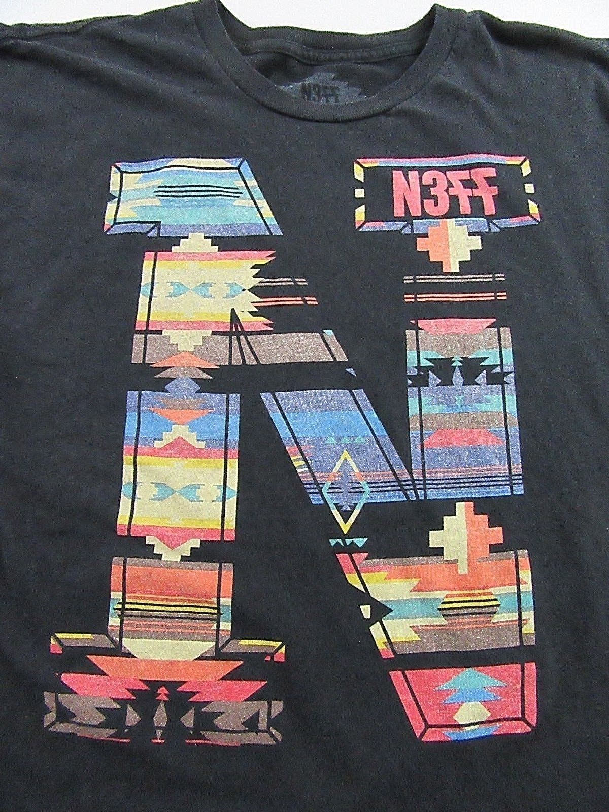 Gildan NEFF Southwest Native American Navajo Style Graphic T Shirt Size L