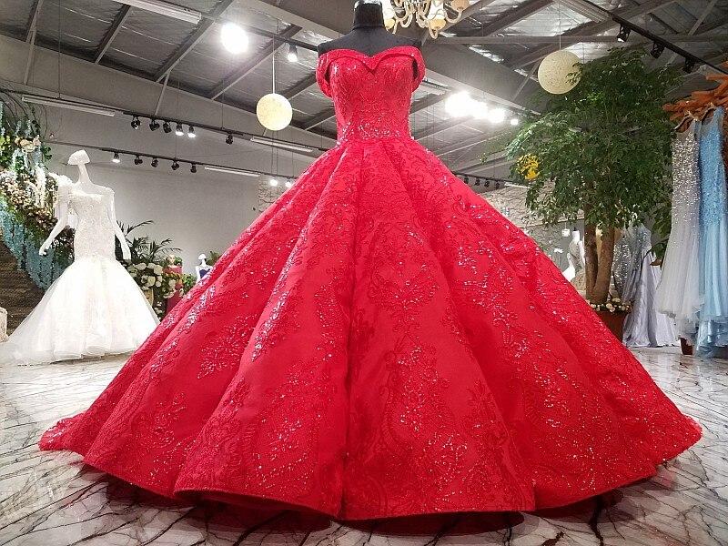 LS3392 կարմիր երեկոյան զգեստ երեկոյան - Հատուկ առիթի զգեստներ - Լուսանկար 3