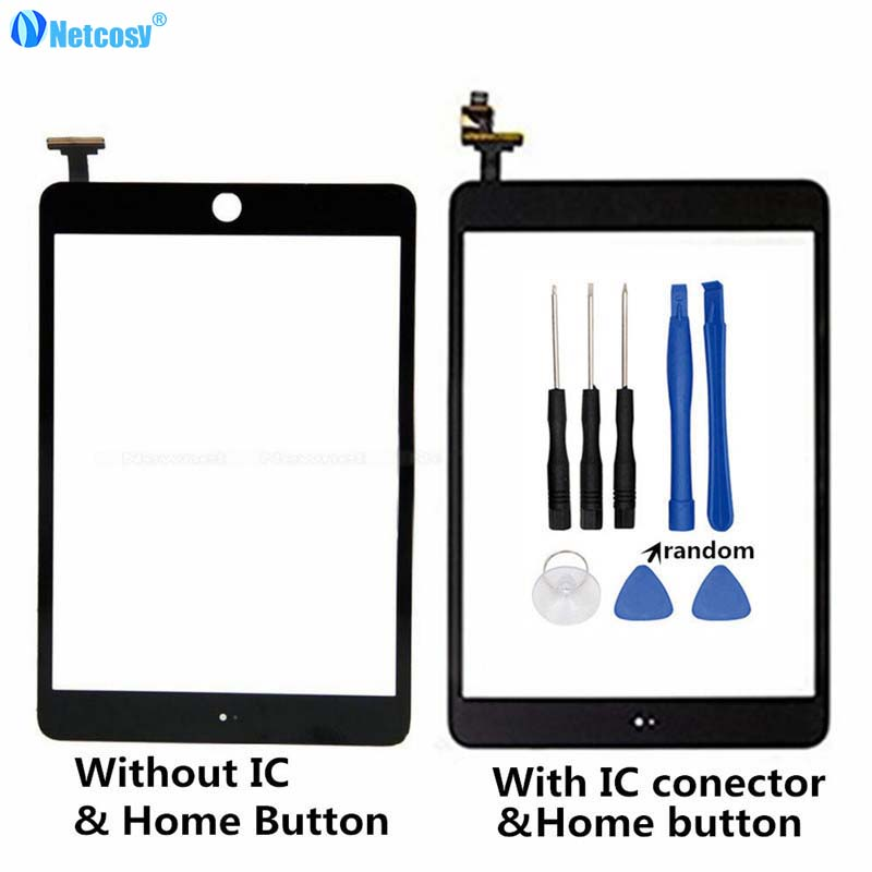 Netcosy Black/White Touch Screen For ipad mini 1/2 A1432 A1454 A1455 A1489 Touchscreen Digitizer panel repair touch panel &Tools