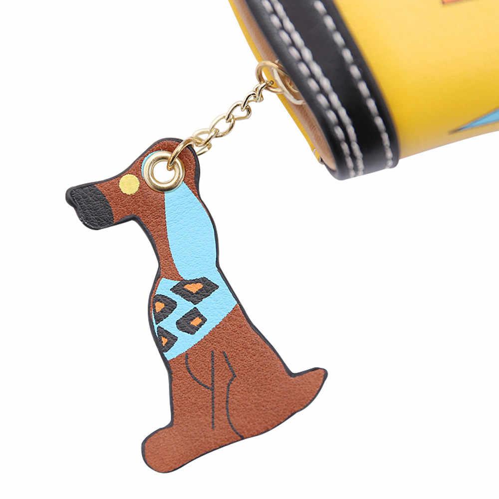 De las mujeres de perro de dibujos animados bolsa de bolso de diseñador de marca famosa para mujer carteras y monederos porte feuille femme monnaie et carta