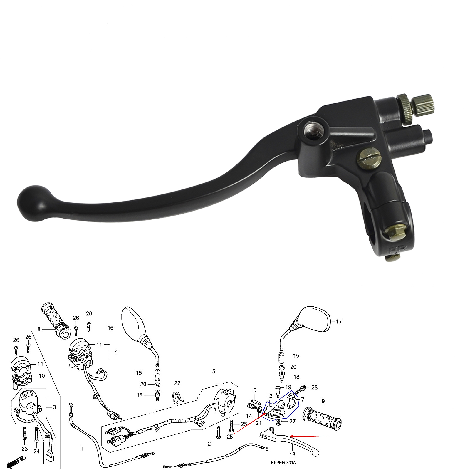 Clutch Lever And Bracket Suitable For Lexmoto Xtr S 125 Ks125-23 Honda Cbr125 R4 R5 Rs5 Rs6 Rw 5/6//7/8/9 A/b/c To Assure Years Of Trouble-Free Service