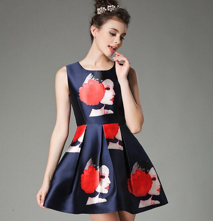2015 Newest Dress Jacquard Fashion Retro Silhouette A Line