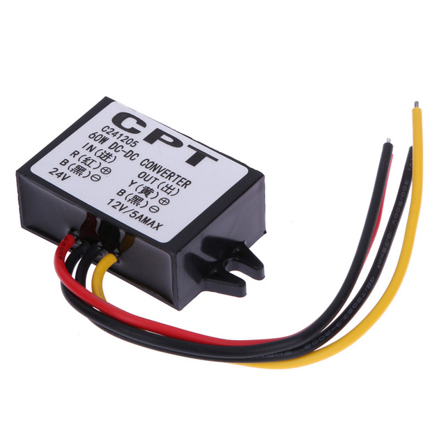VODOOL DC to DC Car Power Converter Adapter 24V To 12V 5A 60W Car Power Step-Down Buck Module Free Shipping