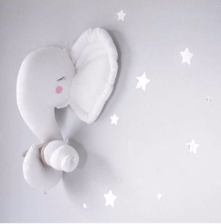 35cm Northern Entrance Elephant Wall 3D DIY Hang INS Doll Room Studio Decoration Stuffed Child Toy Christmas Gift Pillow Cushion