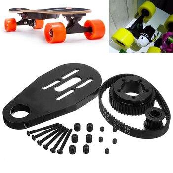Нержавеющаясталь аксессуары для электрических скейтбордов ремень комплект двигателя шкивы крепление для колес 72/70mm