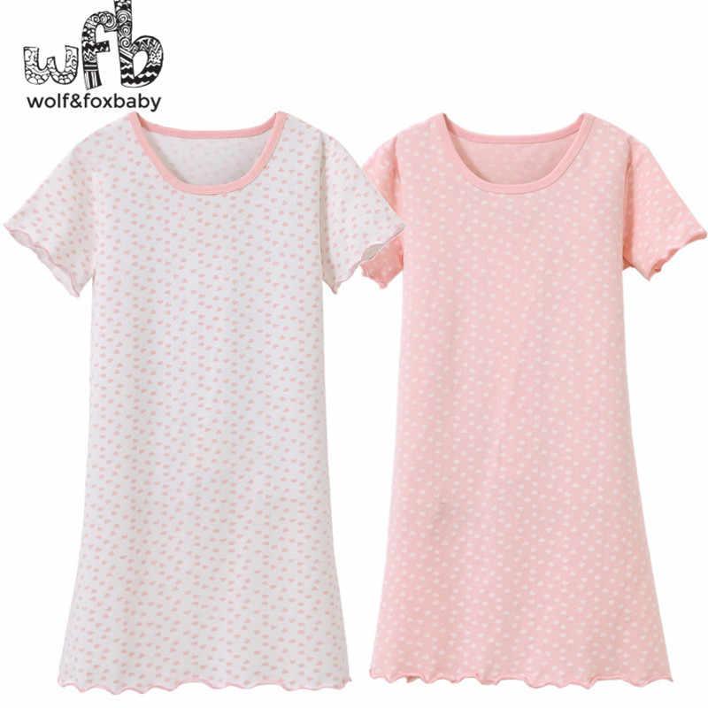 02e82caf49851 Розничная продажа От 3 до 14 лет Короткие рукава Хлопок Детская домашняя  одежда ночная Пижама для