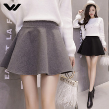 Skirts Womens Fashion Ruffles Tartan High Waist  Mini Skirt Shorts Autumn Winter Slim Sweet Brief Solid Skirts Womens