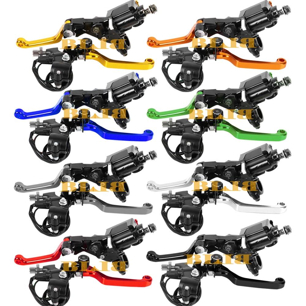 Universal For Yamaha YZ80 YZ85 YZ250F WR250R X TTR250 YZ250FX Moto Dirt Pit Bike Clutch Brake Master Cylinder Reservoir Levers free shipping cnc brake clutch levers fit for yamaha tricker wr250r serow ttr250 xt250x dt230