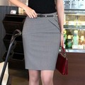 2017 Autumn Summer Women Career Short Formal Skirts Ladies Sexy High Waist Knee-Length Pencil Skirt 4 Colors Plus Size XXXL