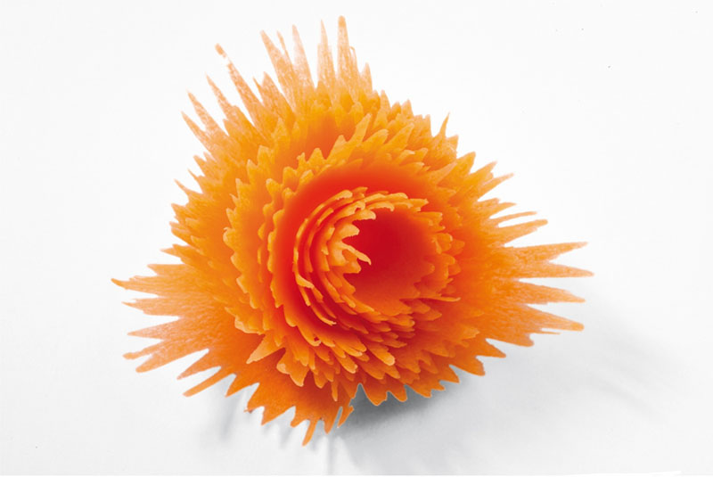 1 шт. морковь спиральный резак в форме воронки режущее устройство кухонная утварь Цветок Рулон свежая фруктовая тарелка