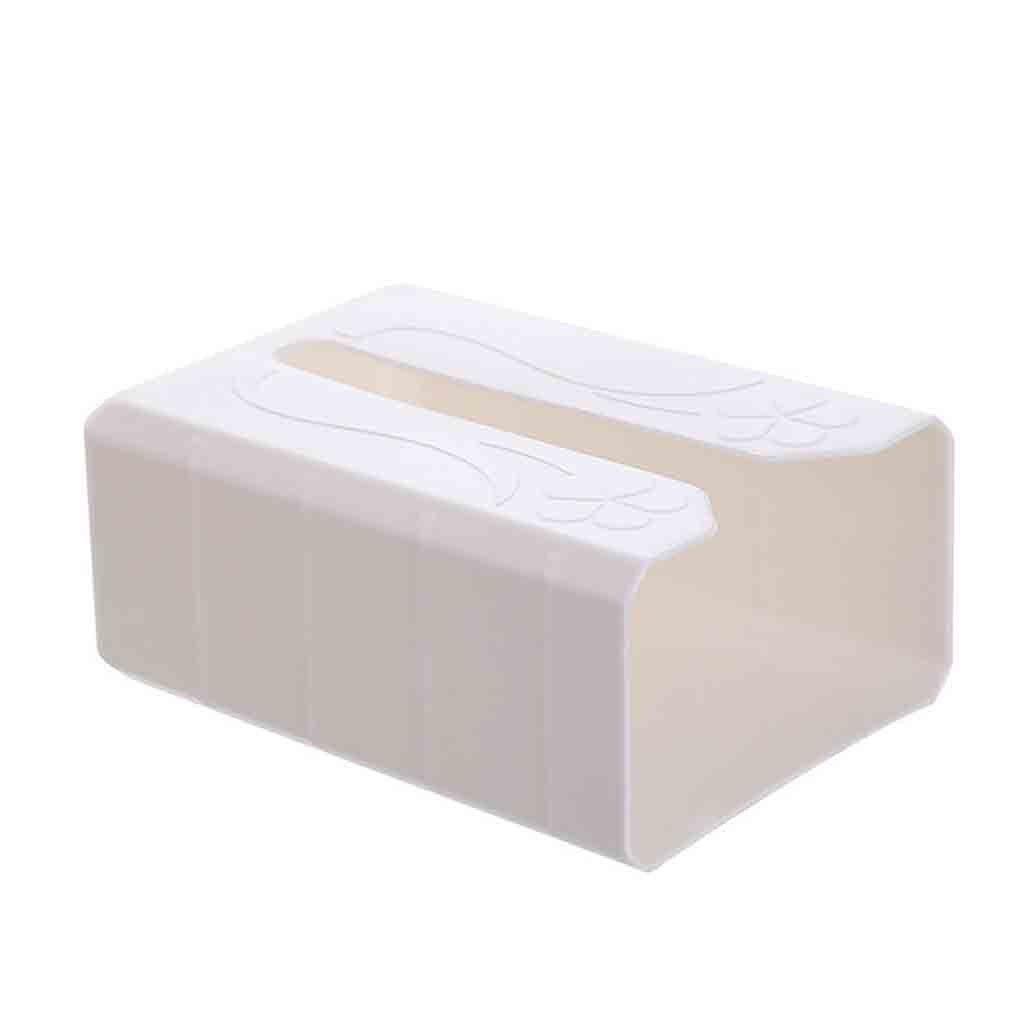 Бездырочный лоток для туалетной бумаги держатель для бумаги рулон Бумажная Коробка органайзер для полотенец Настенный водонепроницаемый для ванной комнаты#17/5 - Цвет: Белый
