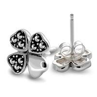 The silver wholesale 925 sterling silver fashion cute little black women stud earrings xh029241w with mark