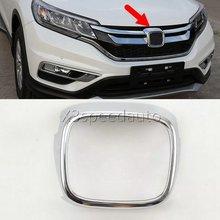 Для Honda CRV CR-V 2015 Передняя решетка решетки центр Логотип Крышка Рамки Отделка 1 шт. автомобиль-Стайлинг
