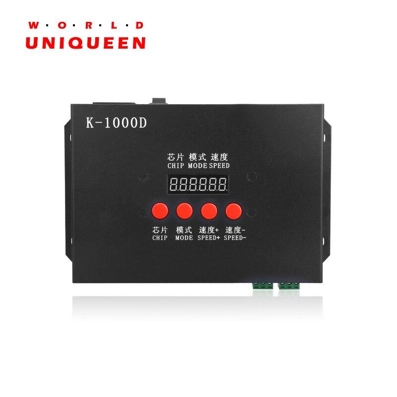 AC220V Entrée DMX SD carte hors-ligne LED pixel contrôleur avec adresse fonction d'écriture pour standard dmx512 puce/DMX512AP-N PUCE de/WS2821A