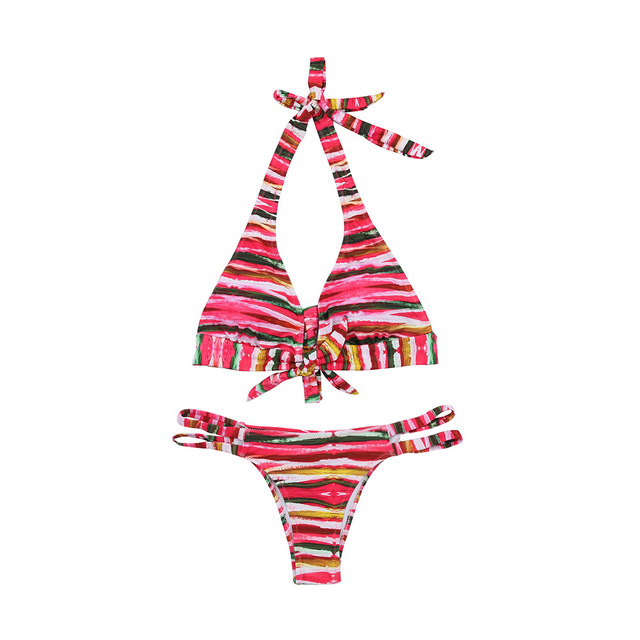Mother Daughter Swimsuit Summer 2018 Striped Matching Mommy And Me Clothes Family Look Mom Girl Swimwear Clothing