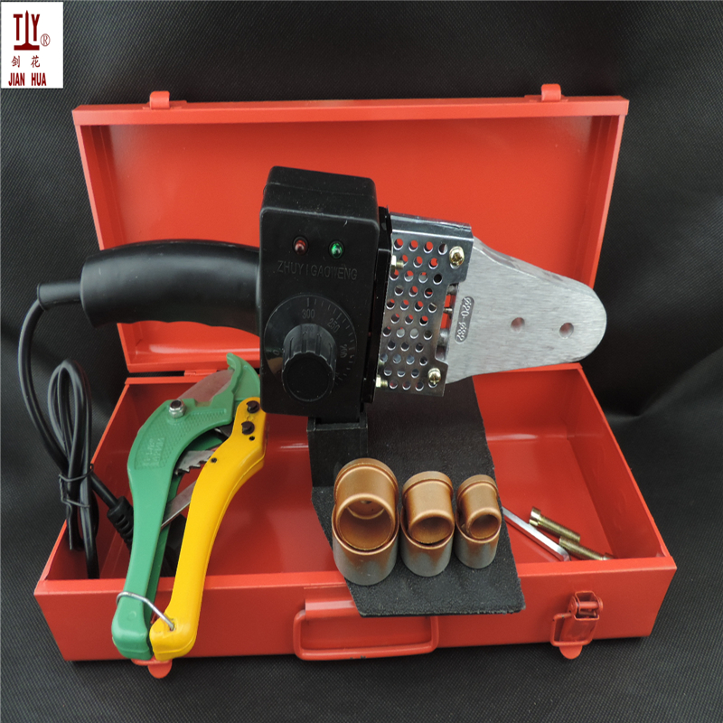 Free Shipping 20-32mm 600W Temperature Controled ppr welding machine for plastic pipe With Metal Box And 42mm Cutter цены