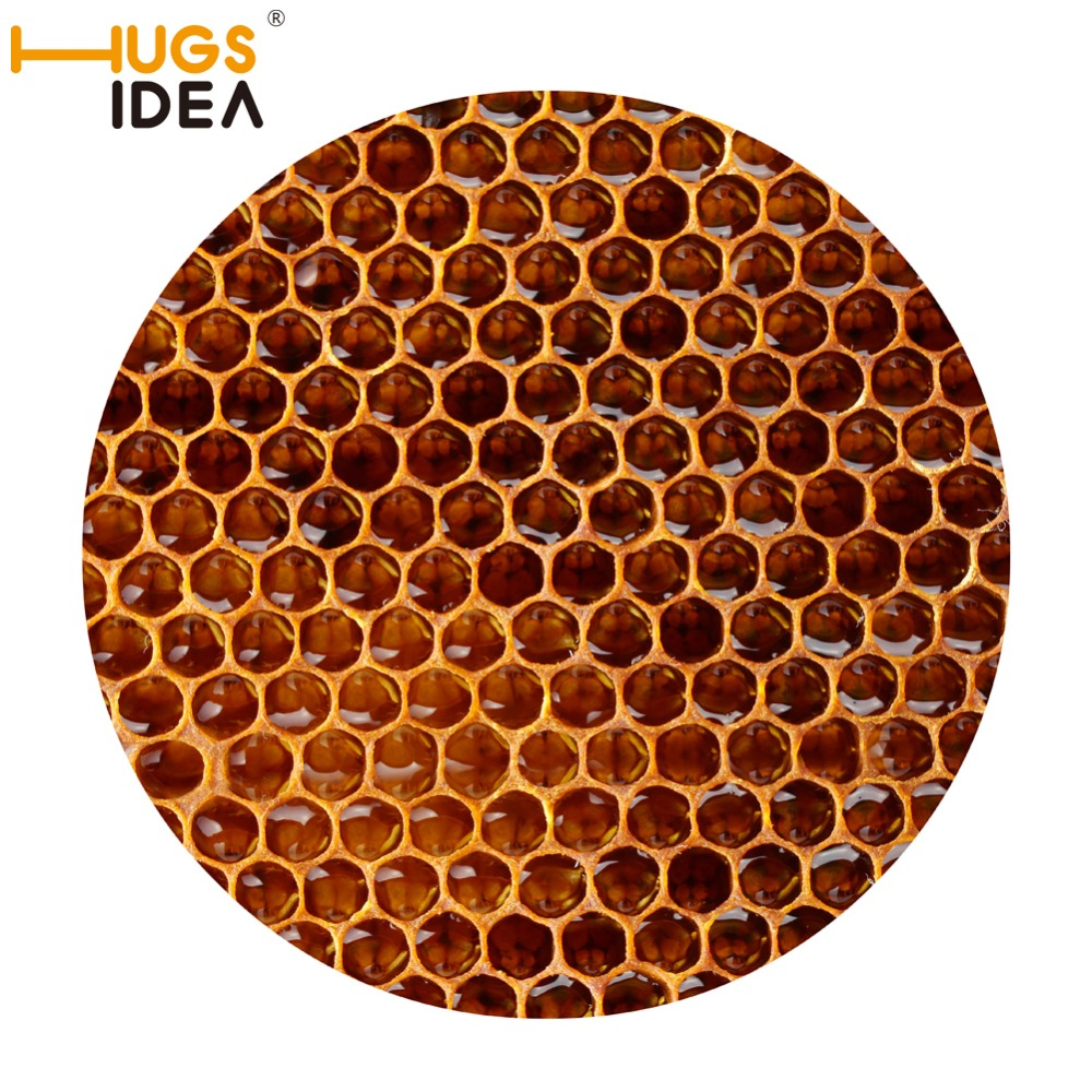 Funny bathroom rugs - Hugsidea Creative Honeycomb Round Carpet Non Slip Carpets And Rugs For Kids Bedroom Play Mat