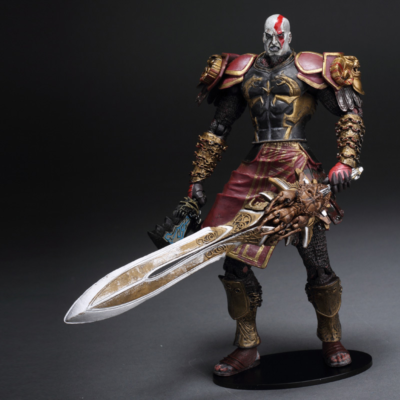 "Hot Sale High Quality NECA <font><b>God</b></font> <font><b>of</b></font> <font><b>War</b></font> 2 <font><b>II</b></font> Kratos in Ares Armor W Blades 7"" PVC <font><b>Action</b></font> <font><b>Figure</b></font> Toy Doll Chritmas Gift ,FG102"