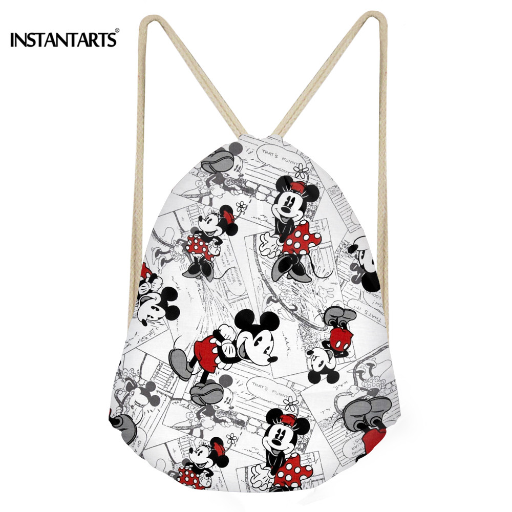 1b1ba573693 INSTANTARTS Cute Cartoon Mouse Printed Gym Sack Women Drawstring Bags for Fitness  Shoes Outdoor Sports Running Cycling Climb Bag-in Gym Bags from Sports ...