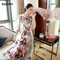 Women's Clothing Dresses 2019 Summer Vintage Party Event Women Sexy Sheer Organza Patchwork Ankle Long Dress Vestidos 50s 60s