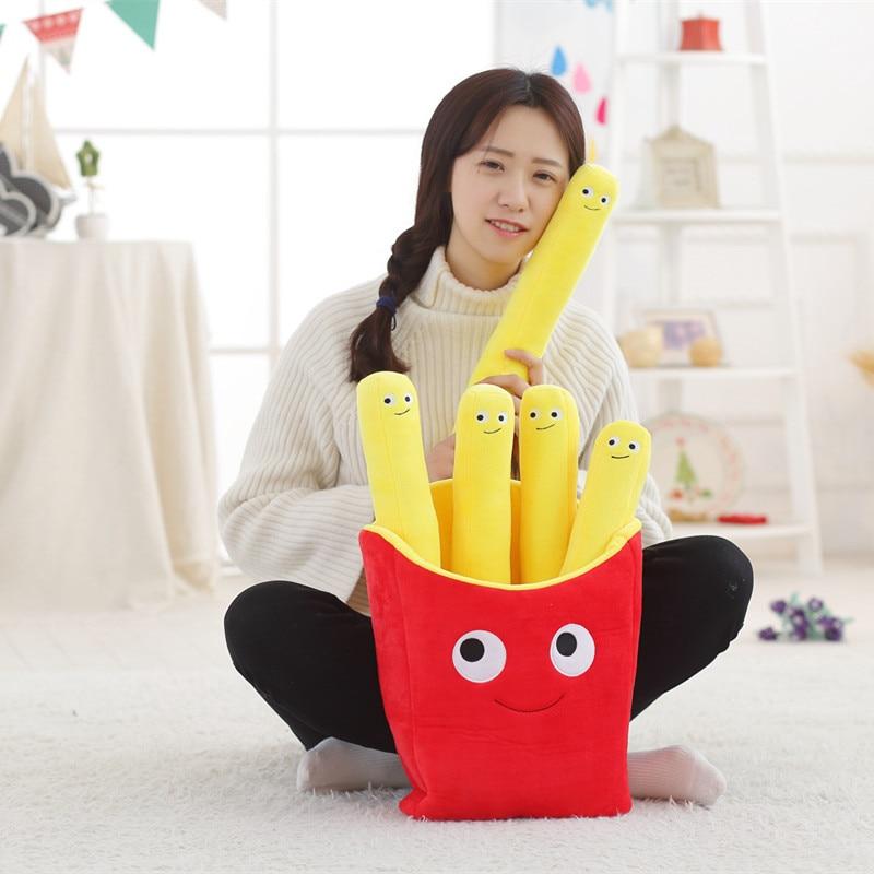 BABIQU 1pc Simulation Fast Food Pillow Milky Tea Chip Pizza Plush Toy Cute Cushion Kawaii Soft Stuffed Super Quality Child Gifts