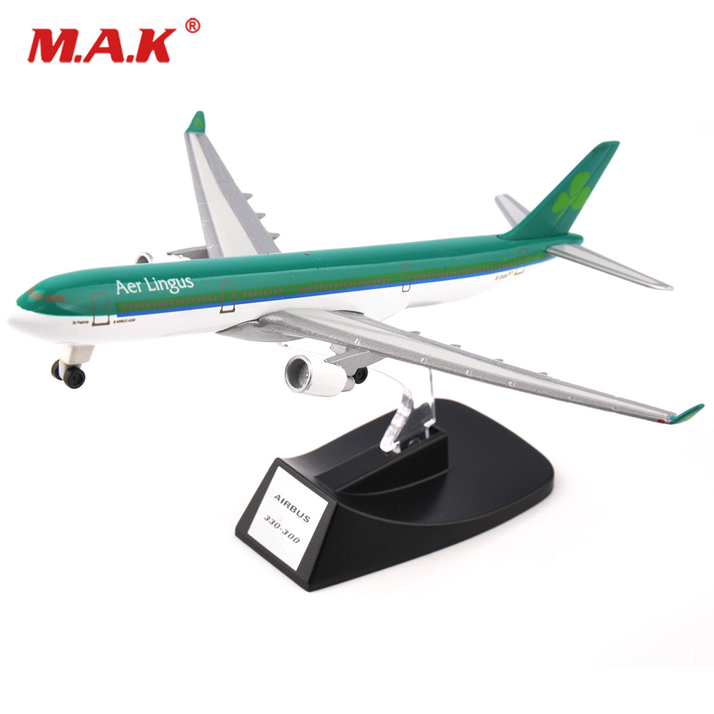 For Collection AerLingus A330-300 Green Airbus Model Diecast Aircraft Plane Collectible Toy 14CM For Fans Boys Gifts