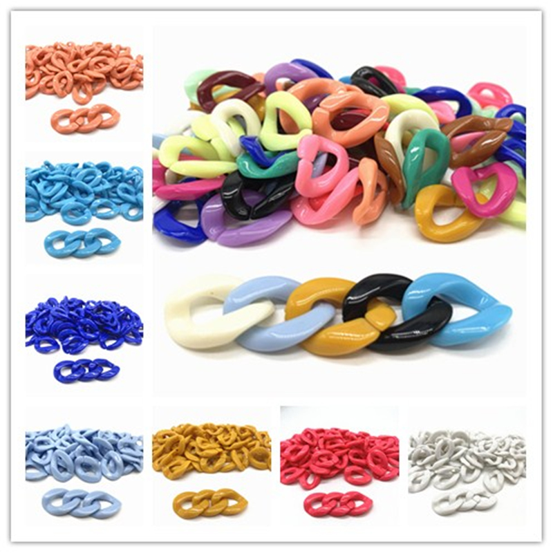 New 20pcs/16x22mm  Acrylic Chain Links DIY Charm Accessories For Jewelry Making