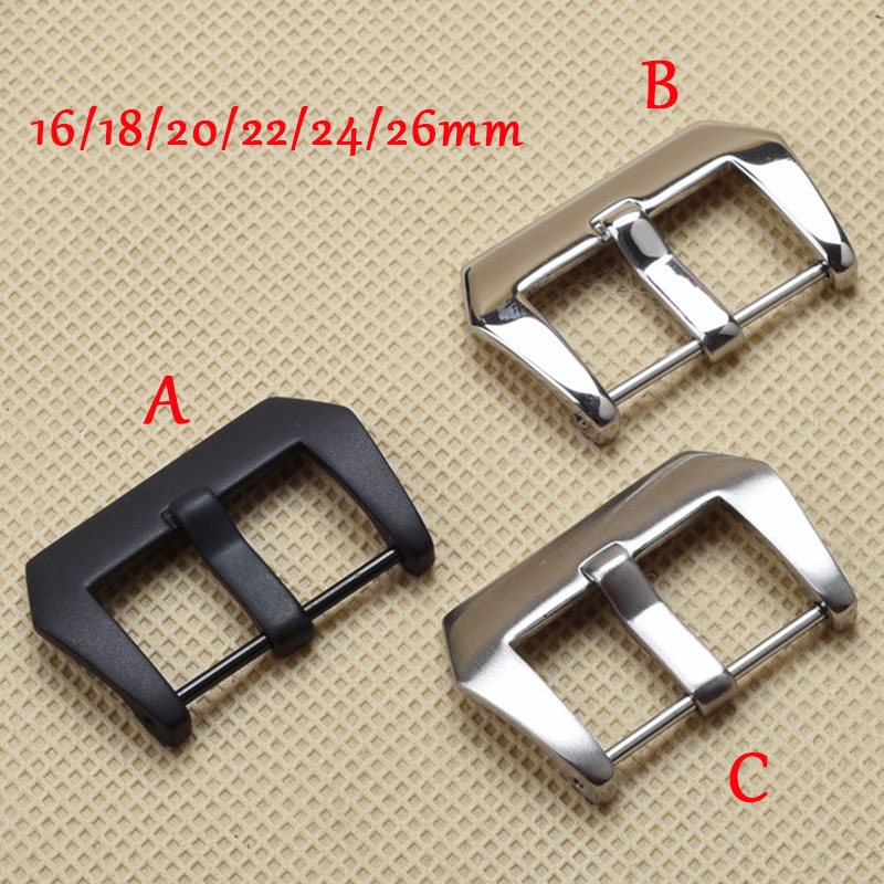 Free shipping 316L Stainless Steel 20mm /22mm /24mm /26mm Polished Brushed Buckle For Panerai Strap Band Watch Buckle 20mm 22mm 24mm 26mm black stainless steel buckle for watch strap band free shipping
