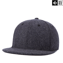 6427785dfcc 2018 Hot style keep warm Felt trilby flat top hat Winter baseball cap Hip  Hop Cap