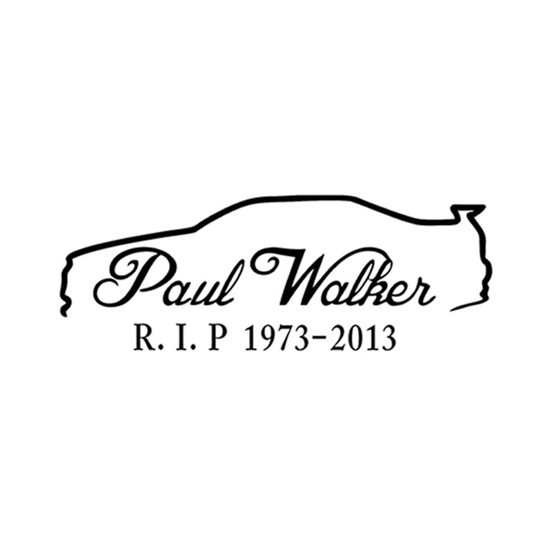 20 7cm Paul Walker Skyline R34 Memorial Rip Reflective Car