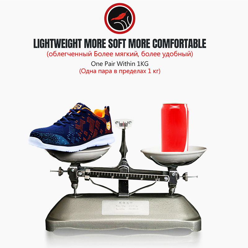 LARNMERN Lightweight Breathable Men Safety Shoes Steel Toe Work Shoes For Men Anti-smashing Construction Sneaker With Reflective 4