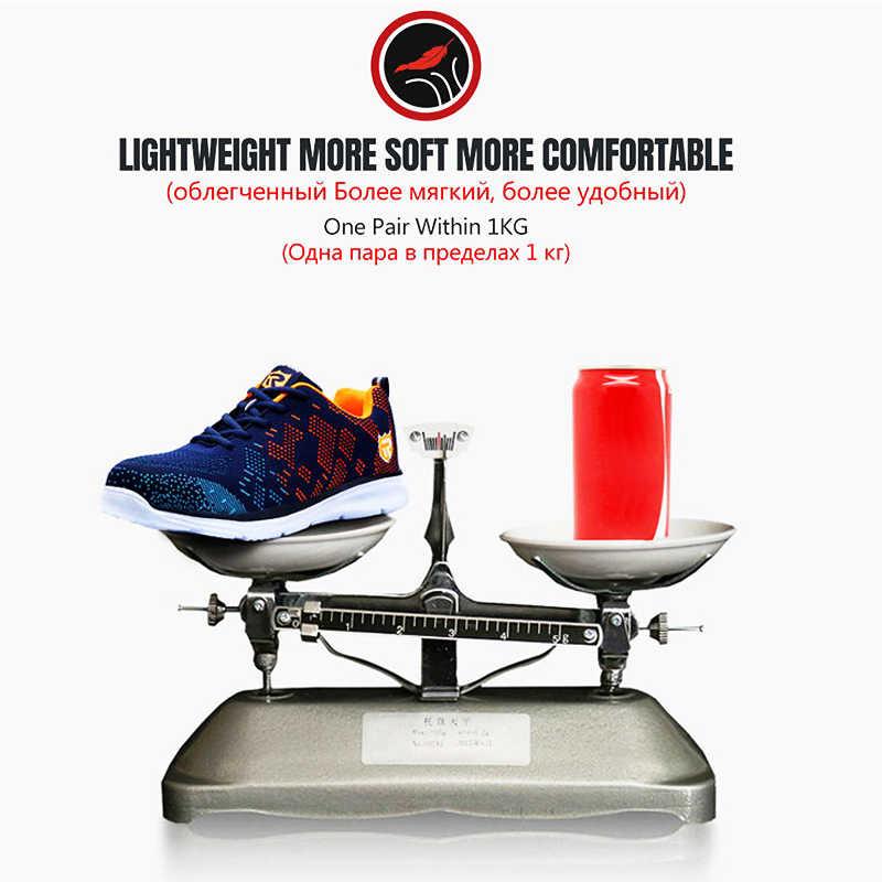 Larnmern Lichtgewicht Ademende Mannen Veiligheidsschoenen Stalen Neus Werkschoenen Voor Mannen Anti-Smashing Bouw Sneaker Met Reflecterende