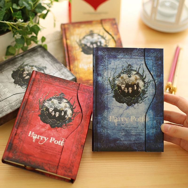 New Harry Potter Vintage Notebook/Diary Book/Hard Cover Note Book/Notepad/Agenda Planner Gift 2017 13 18 cm blank plain notepad notebook diary fleshiness plant printing note book agenda journal planner stationery