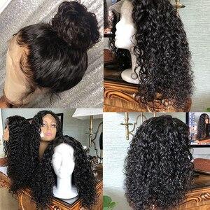 Image 5 - RXY עמוק גל תחרה פרונטאלית פאה Glueless תחרה פרונטאלית שיער טבעי פאות מראש קטף עם תינוק שיער T חלק פאות ברזילאי שיער רמי
