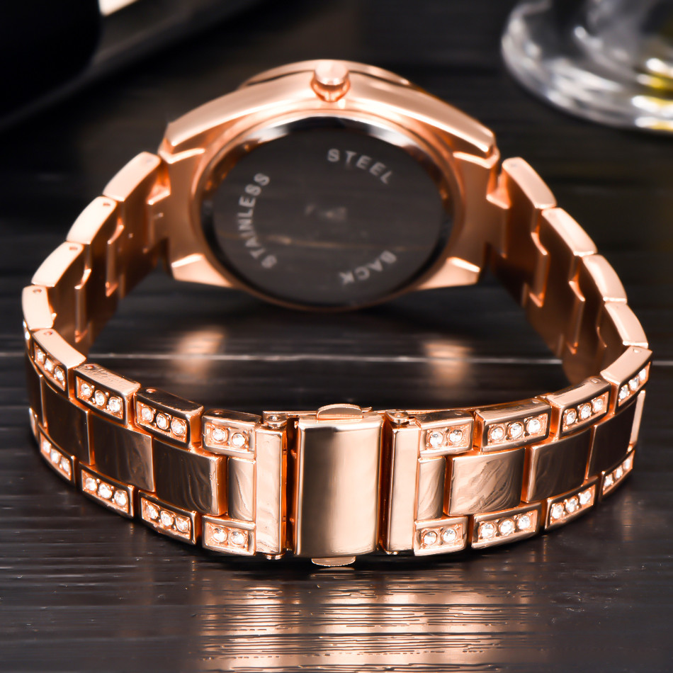 cf001e8b140e Fashion XINEW Ladies Women Girl Unisex Stainless Steel Date Quartz Wrist  Watch rose gold watch women luxury watch women gold-in Women s Watches from  Watches ...