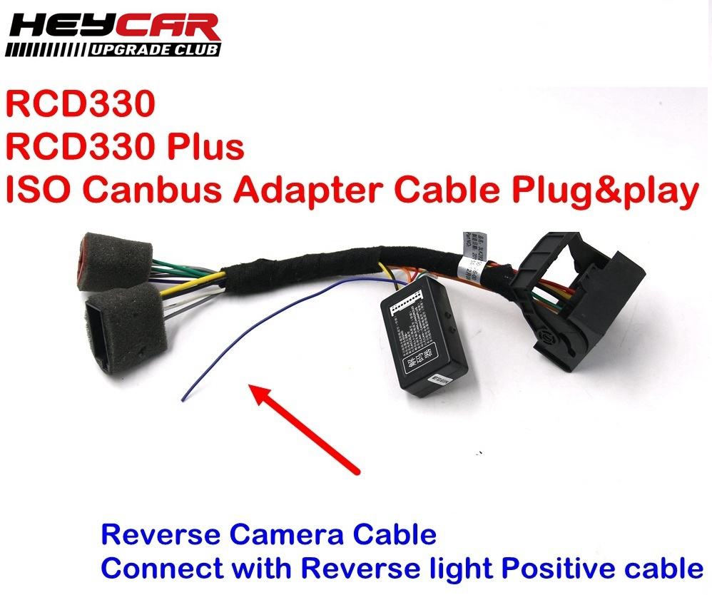 hight resolution of rcd330 plus mib rcd330g plug play iso quadlock adapter cable wire canbus simulator for vw golf jetta