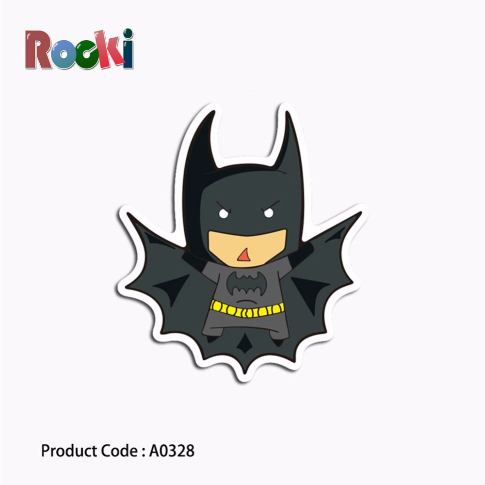 A0328 Stiker Kelelawar Superman Kartun Anime Wing Hero Anti