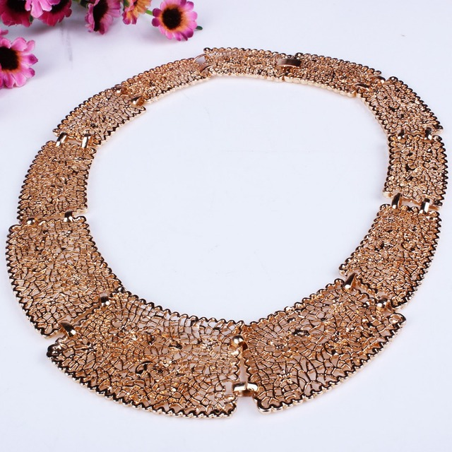 Simple Alloy Choker Necklace for Women