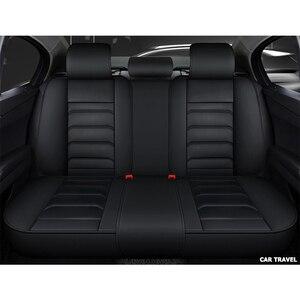 Image 5 - Funda de cuero para asiento de coche delantero y trasero, para hyundai, santa fe, toyota fortuner, lexus is 250, grand starex, ford smax