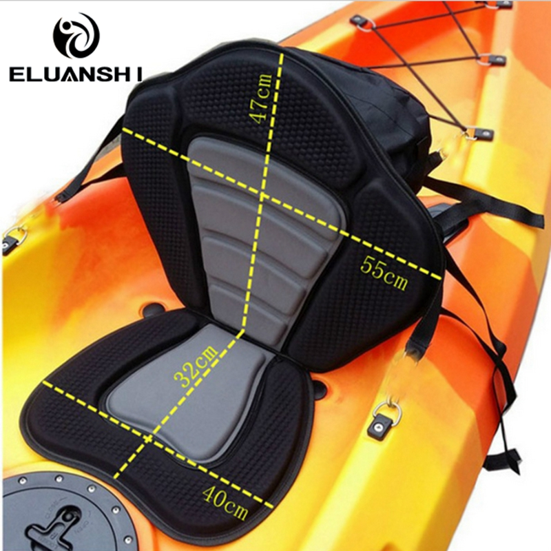 ELUANSHI Adjustable Fishing Canoe kayak Backrest Seat With Cushion Rowing Boat Accessories marine Water-skiing JH caiaque