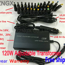 FXZNGX 120W Adapter 34 Tips Car Home Charger Power Supply Adapter for DELL ASUS ACER LENOVO