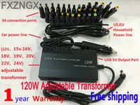 FXZNGX 120W Adapter 34 Tips Car Home Charger Power Supply Adapter for DELL ASUS ACER LENOVO HP Laptop Notebook Universal Series