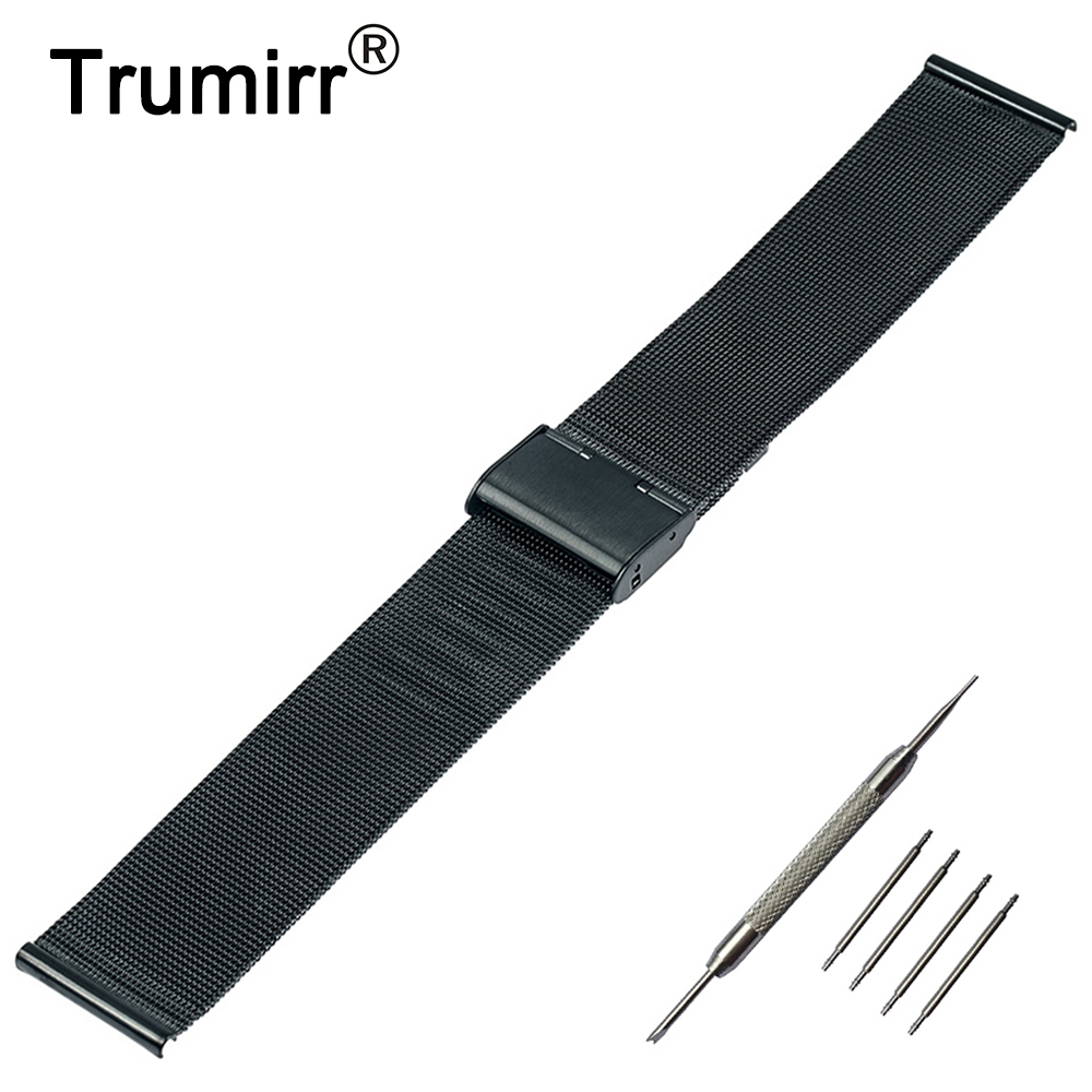 22mm Milanese Watch Band for Samsung Galaxy Gear 2 R380 Neo R381 Live R382 Moto 360 2 46mm Stainless Steel Strap Metal Bracelet стоимость