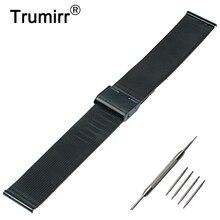 22mm Milanese Reloj Banda para Samsung Galaxy Gear 2 R380 Neo R381 Vivo R382 Moto 360 2 46mm Correa de Acero Inoxidable de Metal pulsera